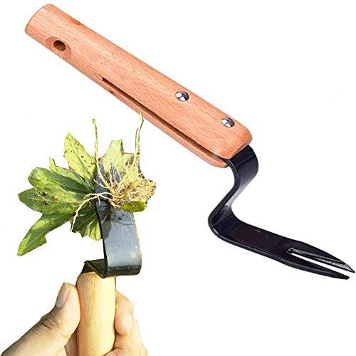 Desbrozadora manual de cabeza bifurcada Extractor de malezas manual Herramienta de jardín para desmalezar a prueba de curvas Extractor excavador rápido y que ahorra trabajo para jardín con césped