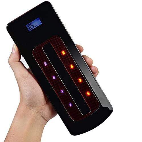 Arrancador de Coche 800A/22000mAh Jump Starter - Arrancador Coche, Ultra-Seguro Arrancador de Baterias de Coche (Pinzas Inteligentes, USB de CargaRápida, LEDLuz, Pantalla LCD)