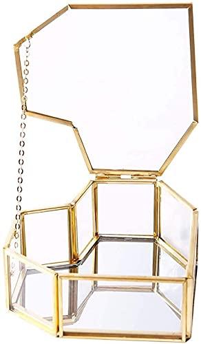 YRHH Nórdico En Forma De Corazón De Vidrio Transparente Flor De Baño Anillo De Vidrio Caja De Anillo De Bodas De Vidrio Caja De Flores Eterna Tapa De Vidrio Innovadora Decoración del Hogar