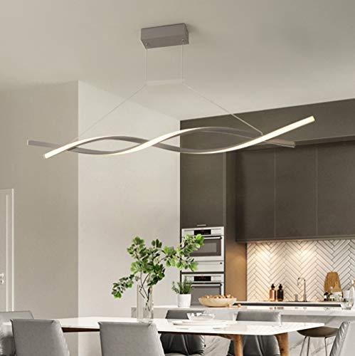 LED Lamparas de techo Modernas para Mesa de Comedor Salon Colgantes Regulable con Control Remoto Luz de Techo Chic Espiral Pantalla de acrílico Diseño Lámpara Cocina Oficina Habitacion Iluminación