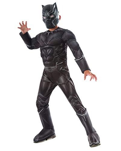 Horror-Shop Costume Bambini Black Panther muscolare S