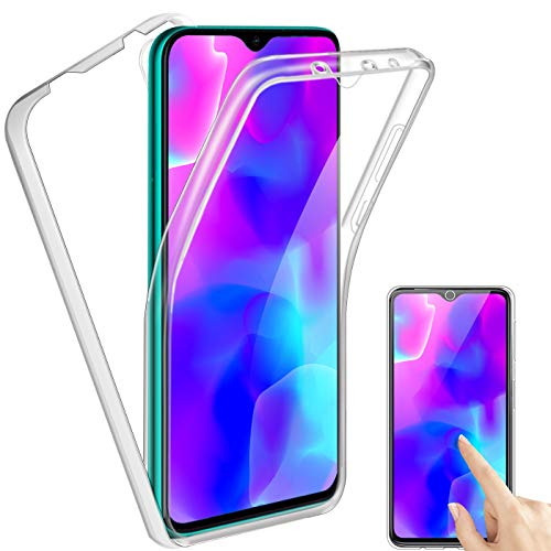 Reshias Funda para Xiaomi Mi 9 Lite,360°Full Body Protección [Suave TPU Silicona Delantero] [PC Dura Atrás] Transparente Flip Protectora Carcasa para Xiaomi Mi 9 Lite (6.39 Pulgadas)
