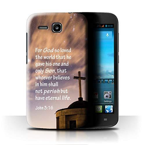 Hülle Für Huawei Ascend Y600 Christliche Bibel Vers God Loved World/John Design Transparent Ultra Dünn Klar Hart Schutz Handyhülle Case