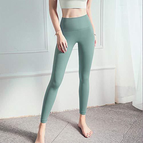 Lengte Hoge taille Fitness Yoga Sportbroek,Fitness Hoge taille Buikcontrole Naadloze legging,Energie Gymwear Workout Yoga Pant-Lake_Blue_L,Superzachte Modal Yoga/Pilates-broek