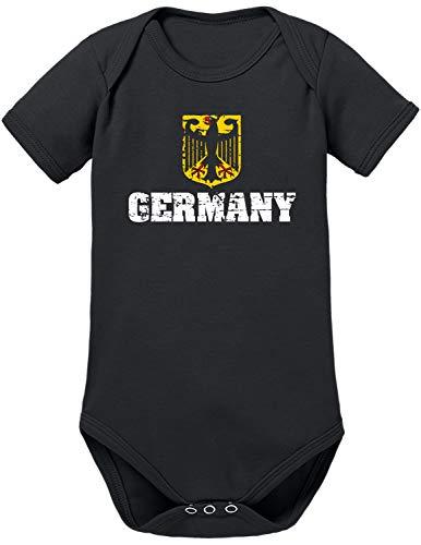 TShirt-People Fußball-Weltmeisterschaft Baby Body 56 Schwarz
