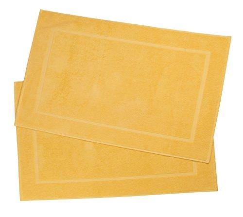 Alfombra de baño amarilla 100% algodón (50x80 cm)