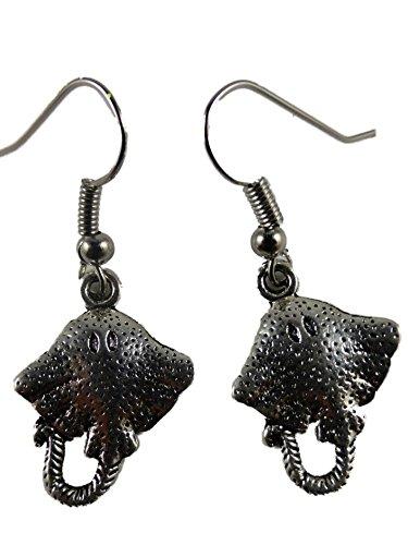 Ohrringe Ohrhänger Hänger Rochen Meer Fisch Aquarium Wasser 7067