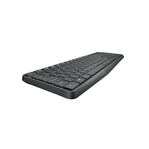 Logitech MK235 Wireless Combo Kit Tastiera e Mouse, QWERTY, Tastiera Italiana, Raggio d'azione: 10 m, grigio/Antracite
