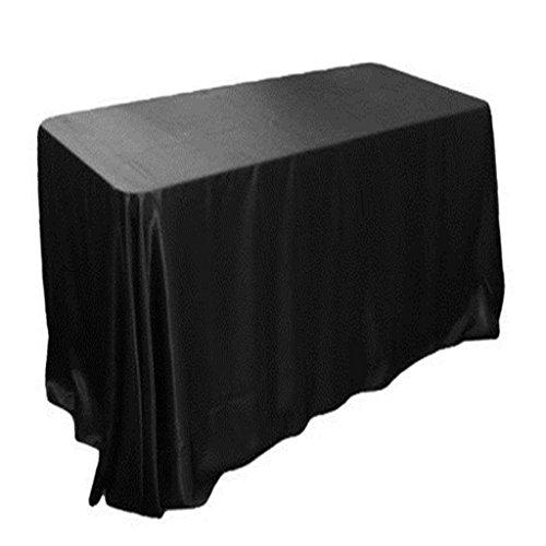Satin Tischdecken - Schwarz