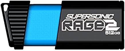 Patriot 512GB Supersonic Rage 2 Series USB 3.0/3.1 Gen 1 Flash Drive with Up to 400MB/sec Read, 300MB/s Write (PEF512GSR2USB)
