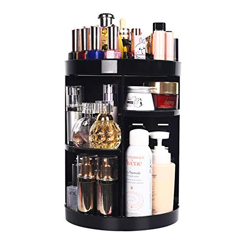 360 Degree Spinning Beauty Products Makeup Organizer