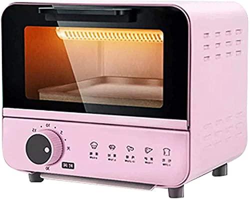 Mini Horno eléctrico para el hogar,tostadora,máquina panadería,Pizza,Horno multifunción 800W con Temporizador 30 Minutos,