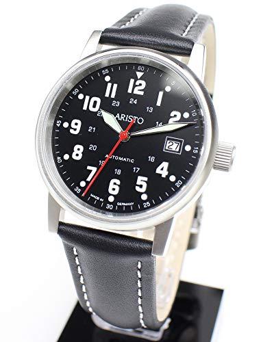 Aristo Herren Uhr Armbanduhr Fliegeruhr Automatic Leder 3H11