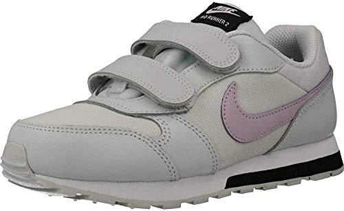 Nike MD Runner 2 (PSV) Sneaker, Photon Dust/Ice Lilac-Off Noir-White, 33.5 EU