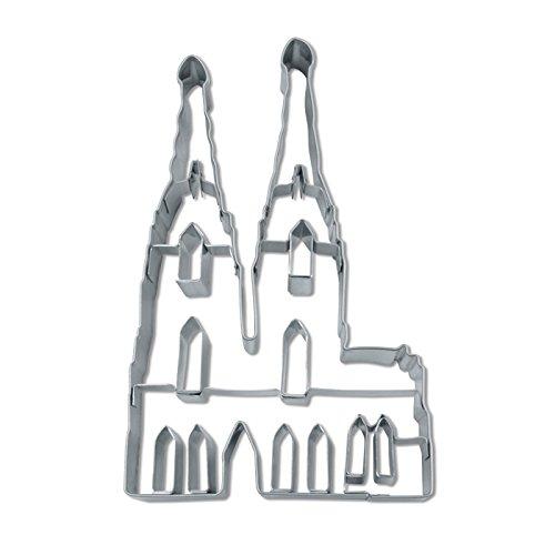 PARTY DISCOUNT NEU Ausstechform Edelstahl, Kölner Dom, ca. 8 cm