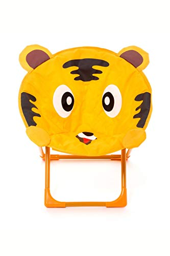 One Couture Chaise pour Enfant, Métal, Orange/Brown, 48cm x 42cm x 49cm