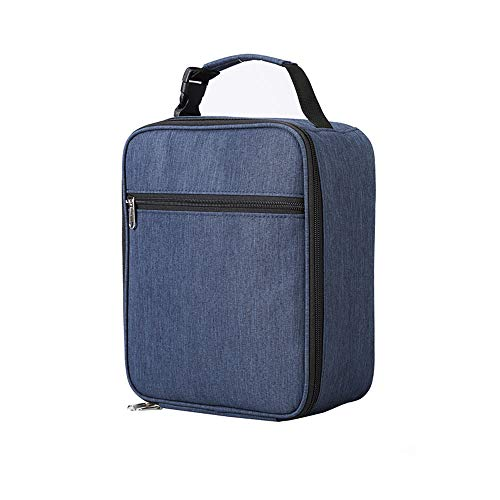 AIYIBEN Reusable Insulated Lunch Bag, Sturdy Oxford Lunch Box refrigerated Bag Tote, Outdoor Tableware and Picnic Supplies, School and Work (Blue)