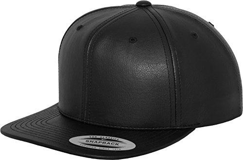 Flexfit Mütze Full Leather Imitation Snapback, black, one size