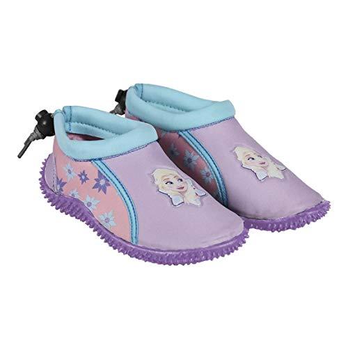 takestop Scarpe Scarpette da Mare Acqua Frozen Elsa Anna Olaf Disney Bambina Bimba Chiusura Laccio Ciabattine SASSOLINI Sassi Sandali Antiscivolo Sport Acquatico (28 EU)