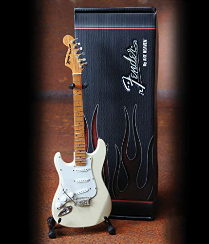 Axe Heaven: Fender Strat Left Hand White Miniature Guitar Mo