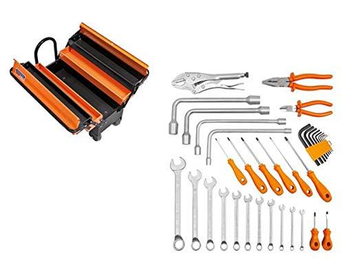 Kit caixa de ferramentas Sanfonada com Rodas e Puxador 35pç-TRAMONTINAPRO-44952635