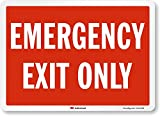 "SmartSign ""Emergency Exit Only"" Label 