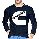 Cummins Logo.jpg Men's Fashion Long Sleeve tee Black Camisetas y Tops(Small)