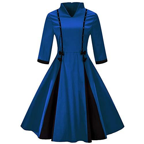 Auifor Vestido Uranus venca Vestidos Ver de Mujer vestído Ajustado Amarillo años 63 Vestido años Mujer Arras niña Asimetrico Azul Claro Largo Bandage Bebe