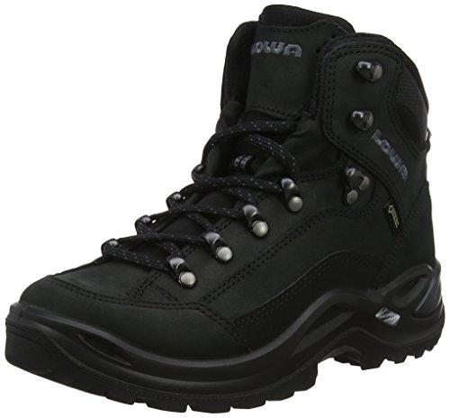 Lowa Women's Renegade GTX Mid Hiking Boot,Black/Black,7 M US