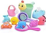 Bañar red de pesca que las cuestiones juguete de 12 piezas de juego Purutoi ducha conjunto en el sonido juguetes for el agua blanda fuente Ofuro juguetes regalo de los niños del juguete del regalo del