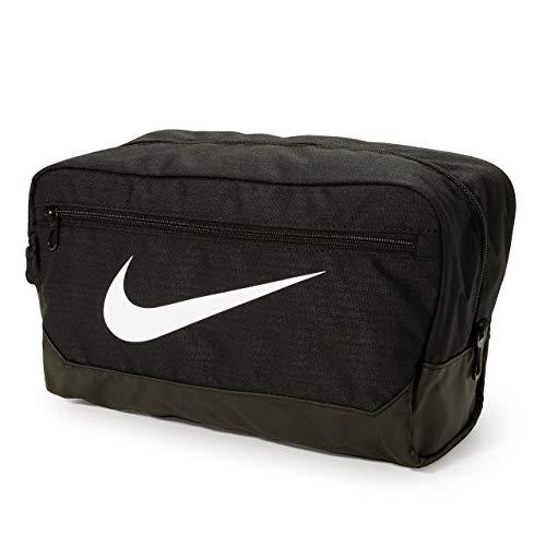 Nike Unisex's Brasilia - 9.0 Shoe Bag, Black/Black/White, One siz