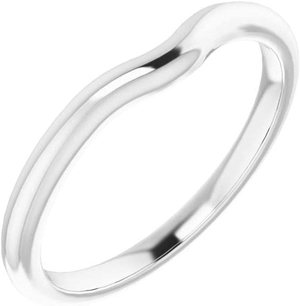 Solid 10K White Gold Curved Max 66% OFF Notched Wedding Band Round 4.8mm Overseas parallel import regular item for