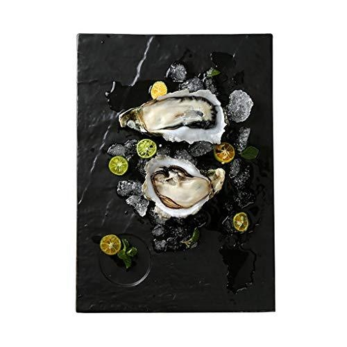 XXLCJ dessertplaat in Japanse stijl, keramiek, rechthoekig, steen, model van de Westteller