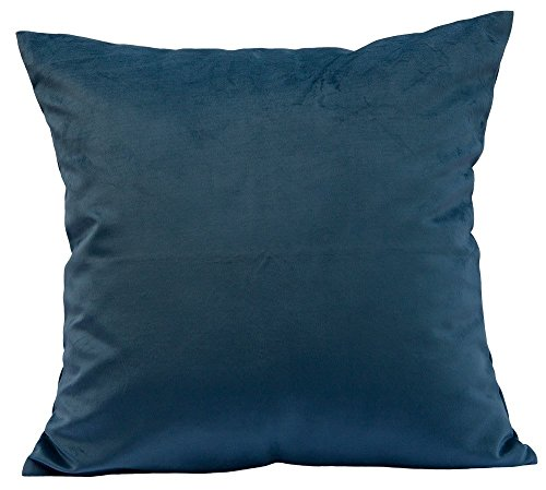 Options Pure Color Solid Velvet Throw Pillow Cases Cushion Covers for Sofa Bedroom Living Room Square (Turquoise, 20 X 20 Inches)