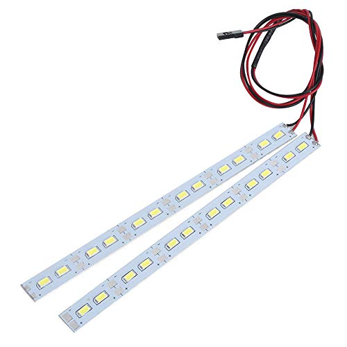 VGEBY Luz de chasis Universal 24LED Tira de LED de Aluminio Ligera 6V para 1/10 1/8 Modelo RC Car ⭐