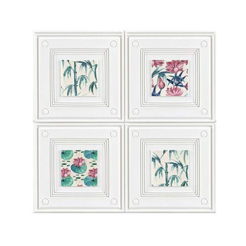3D Brick Wall Panels, 3D Dekorative Wall Panels Aufkleber Peel und Stick Blühende Lotus Bamboo Muster für Kamin Einbau Bad Küche Home Hintergrund Wand (Color : Pattern, Size : 10 Pack)