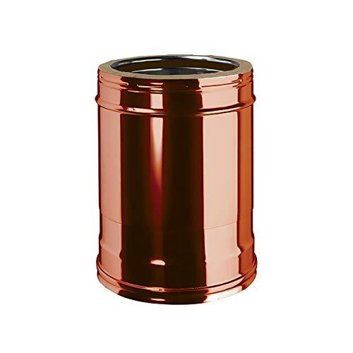 Elemento Telescopico 260 a 390 mm Doppia Parete Interno Acciaio Inox Esterno Rame Naturale per Canna Fumaria Esterna Coibentata DN 150/200 mm