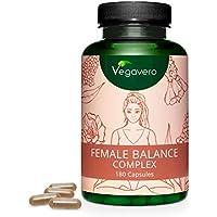 Suplemento para Equilibrio Hormonal Vegavero®  100% Vegetal   Maca + Vitex Agnus Castus + Alchemilla Vulgaris + Nopal + Vitaminas y Minerales   Estrógenos Naturales   Sin Aditivos   Para Mujeres