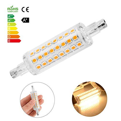 78MM Maisbirne 2835 SMD R7S Basis-LED-Licht J78, 10W Halogen-Ersatzbirnenbirne, 800 Lumen AC220V Energiesparlampe (warmes Weiß)