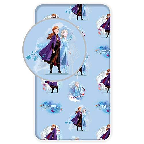 Disney Spannbettlaken, Motiv: Die Eiskönigin, 90 x 200 cm, 100 {29b7896d739a9cd352903052dedc84e5af2b90152057434c852ff15d5be65b38} Baumwolle
