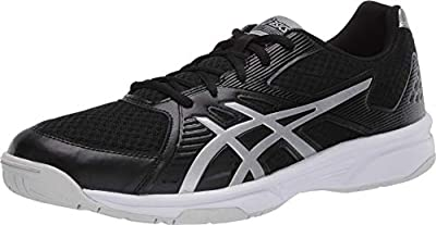ASICS Men's Upcourt 3 Volleyball Shoes, 7M, Black/Pure Silver