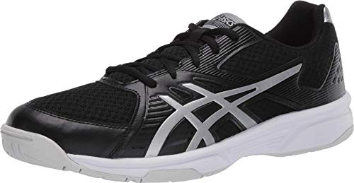 ASICS Men's Upcourt 3 Volleyball Shoes, 10M, Black/Pure Silver