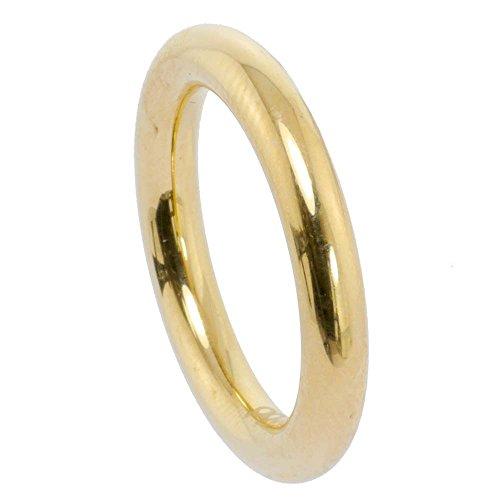 Kadó Ring Changes Edelstahl beschichtet in Farbe Gold bombiert glänzend 3,5mm 250-3,5-00P-G (56 (17.8))