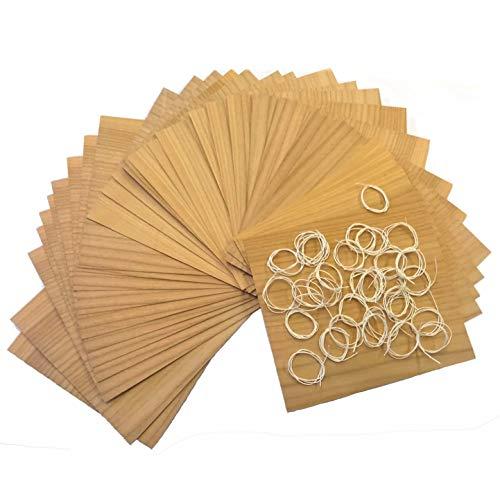 Masterpiece - BBQ Grillpapier Kirsche Set à 30 STK Wood Wraps Grillfurnier in Premium Qualität Räucherfurnier Wood Paper Maße: 190 x 170 mm