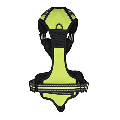 Balacoo 1 Stücke Mittelgroße und Große Hund explosionsgeschützte Flush Double Fold Brustgurt Tracer Kragen Reflektor Strap Kleidung Große (Grün)- Langlebiges Hundezubehör