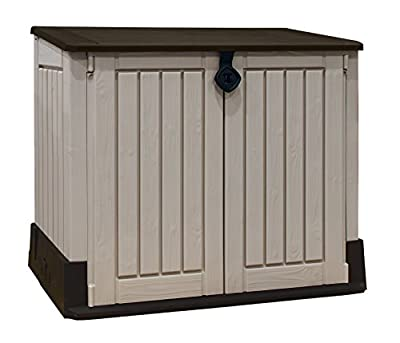 Keter Store-It Out Midi Outdoor Plastic Garden Storage Shed, Beige and Brown, 130 x 74 x 110 cm