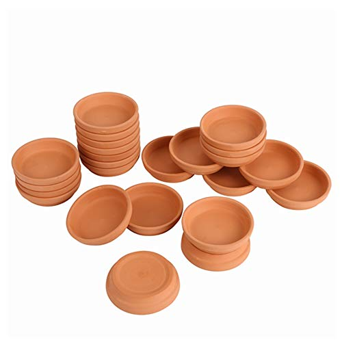 24pcs Terra Cotta Saucer, 3.2-inch Small Mini Clay Pots Tray, Suitable for 4inch, 3inch, 2.5inch, 2inch Succulents Nursery Pots