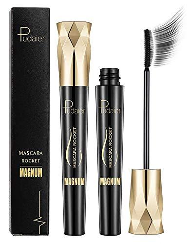 4D Silk Fiber Wimperntusche Crown Mascara, Extra Long Lash Verlängerung & Volumen Eyelash Mascara...