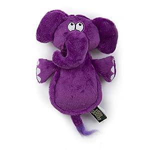 Hear Doggy Flatties with Chew Guard Technology Dog Toy, Elephant, Purple, Large (58547)