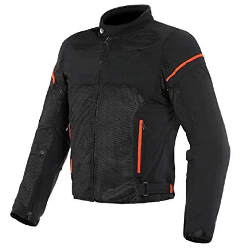 Chaqueta motorista para hombre, chaqueta de verano de malla para motocicleta, chaqueta de carreras con protectores